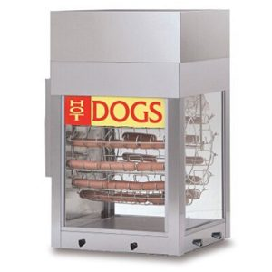8102 Gold Medal - Hot Dogeroo Rotisserie Cooker w/bun warmer