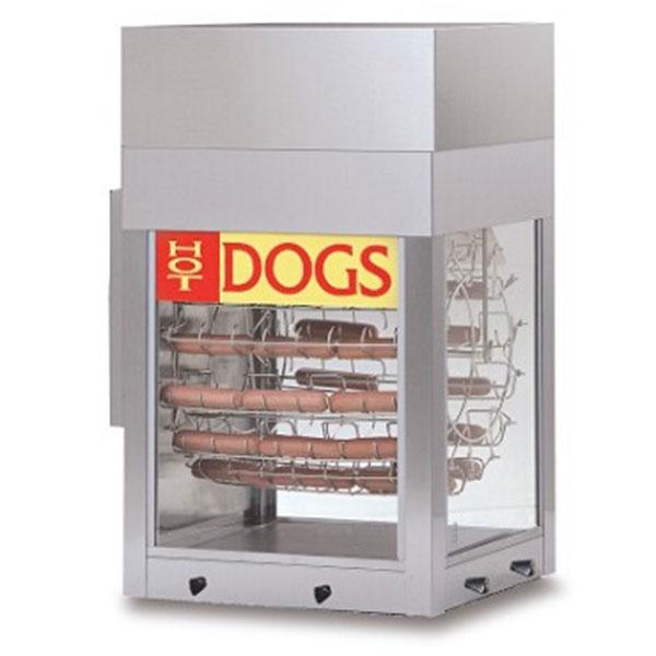 8102 Gold Medal - Hot Dogeroo Rotisserie Cooker w/bun warmer